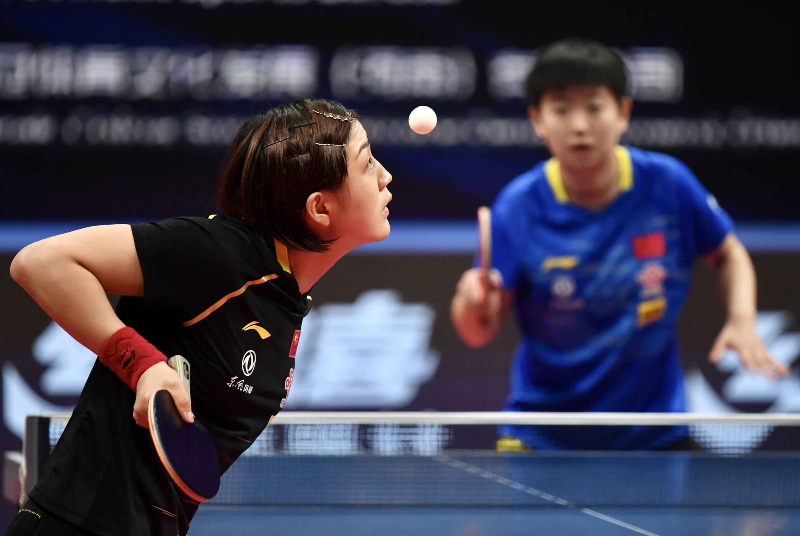 2020国际乒联总决赛精彩瞬间